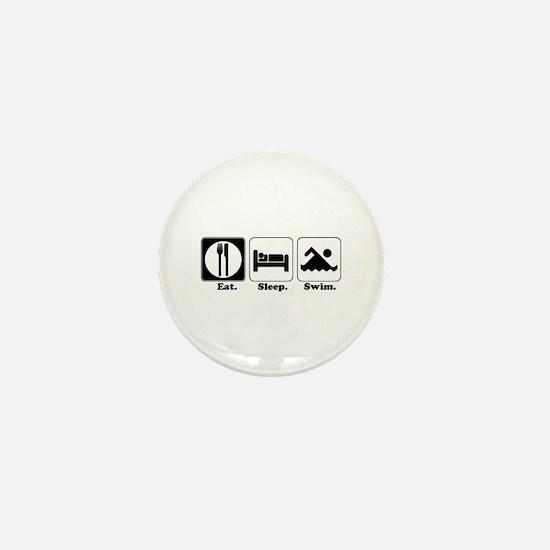 Eat. Sleep. Swim. Mini Button
