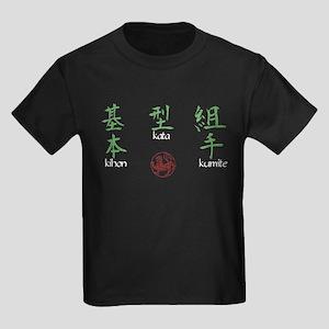 Kihon, Kata, Kumite Kids Dark T-Shirt