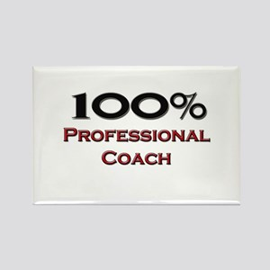 100 Percent Professional Coach Rectangle Magnet