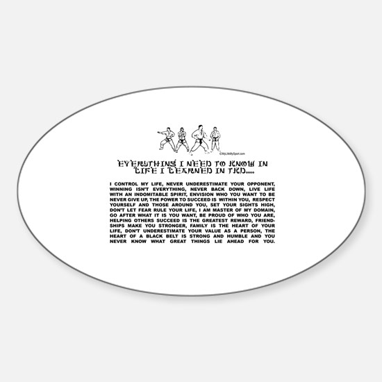 everything I need to know in life-TKD Decal