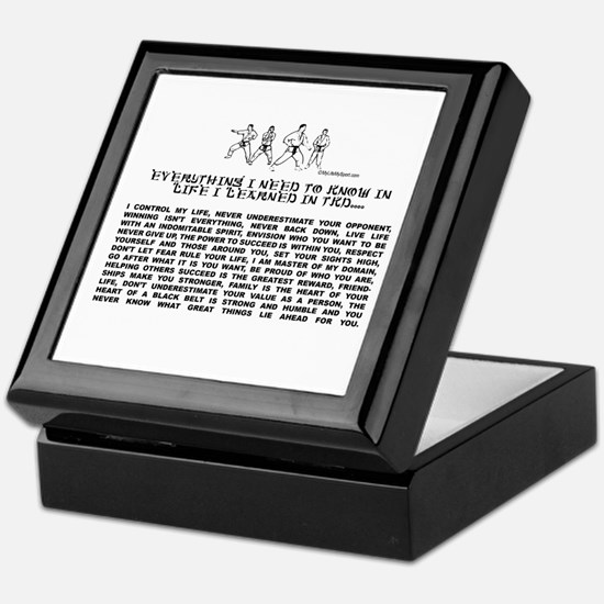everything I need to know in life-TKD Keepsake Box