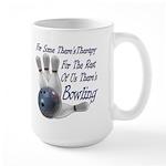 Bowling Therapy Large Coffee Mug