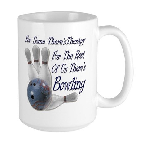 Bowling Therapy Large Coffee Mug
