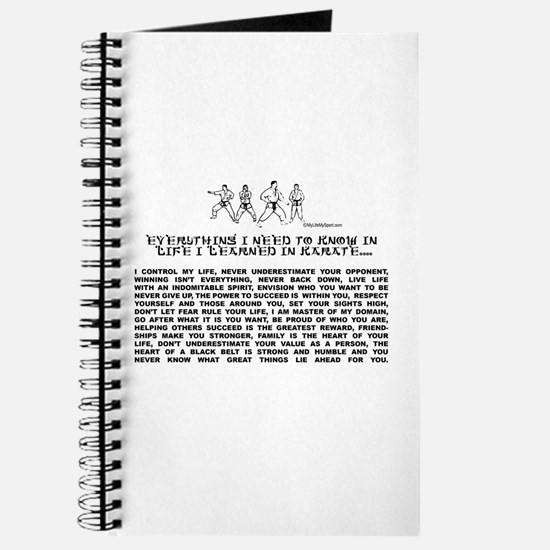 everything I need to know in life-Karate Journal