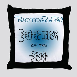 Photography Reflection of Soul Throw Pillow