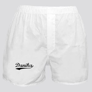 Vintage Danika (Black) Boxer Shorts