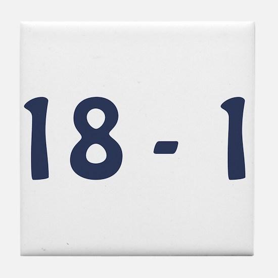 Giants Super Bowl Champs (18-1) Tile Coaster