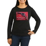Free Men Own Guns Women's Long Sleeve Dark T-Shirt
