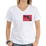 Free Men Own Guns Women's V-Neck T-Shirt