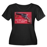 Free Men Own Guns Women's Plus Size Scoop Neck Dar