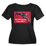 Free Men Own Guns Women's Plus Size Scoop Neck Dar