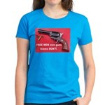 Free Men Own Guns Women's Dark T-Shirt