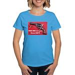 Free Men Own Guns Women's Dark T-Shirt