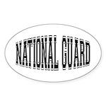 National Guard Oval Sticker