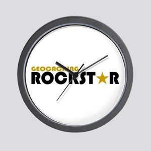 Geocaching Rockstar Wall Clock