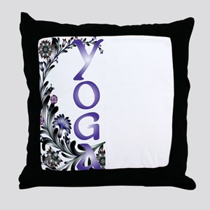 Yoga Beauty and Bliss Throw Pillow