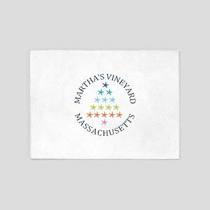Summer Martha's Vineyard- Massachus 5'x7'Area Rug