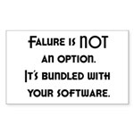 Failure Is NOT An Option Rectangle Sticker