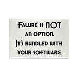 Failure Is NOT An Option Rectangle Magnet