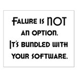 Failure Is NOT An Option Small Poster