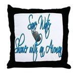 Shower with an Airman Throw Pillow