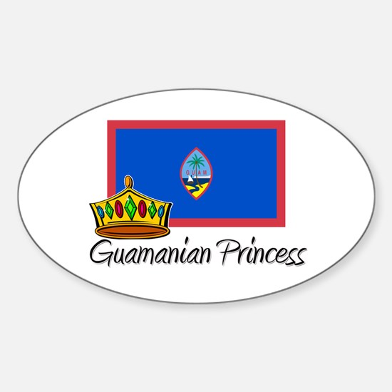 Guamanian Princess Oval Decal