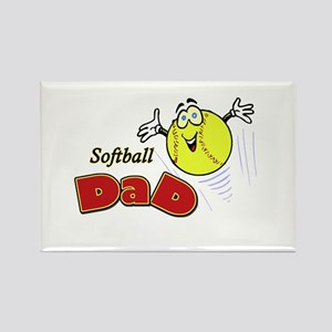 Softball Dad Rectangle Magnet
