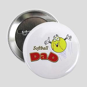 "Softball Dad 2.25"" Button (10 pack)"