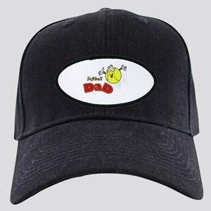 Softball Dad Black Cap