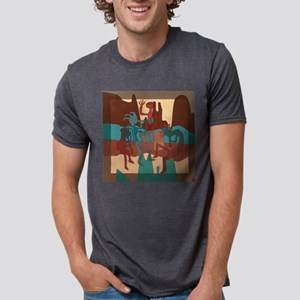 Ancient Rock Band on Location Mens Tri-blend T-Shi