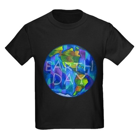Earth Day Planet Kids Dark T-Shirt