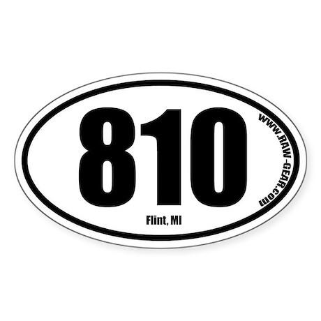 810 Flint Oval Sticker
