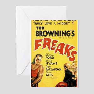 Freaks Greeting Cards