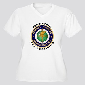 FAA Certified Remote Pilot Plus Size T-Shirt