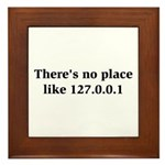 There's No Place Framed Tile