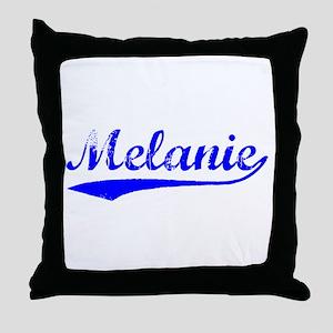 Vintage Melanie (Blue) Throw Pillow