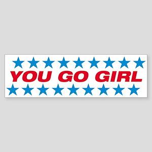 Girl Power Patriotic Bumper Sticker