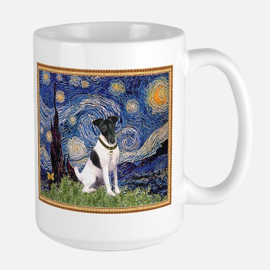 Starry Night & Smooth Fox Terrier Large Mug