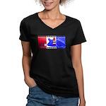 True Colours Women's V-Neck Dark T-Shirt