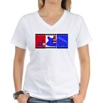 True Colours Women's V-Neck T-Shirt