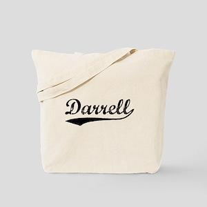 Vintage Darrell (Black) Tote Bag
