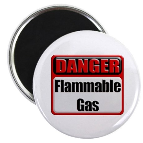 Danger: Flammable Gas Magnet