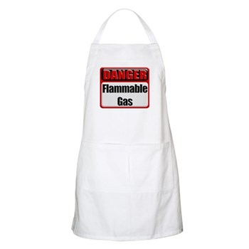 Danger: Flammable Gas BBQ Apron