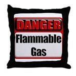 Danger: Flammable Gas Throw Pillow