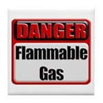 Danger: Flammable Gas Tile Coaster