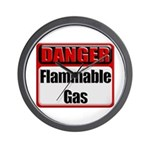 Danger: Flammable Gas Wall Clock