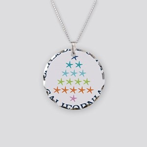 Summer carlsbad state- calif Necklace Circle Charm
