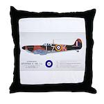 Supermarine Spitfire Aircraft Throw Pillow