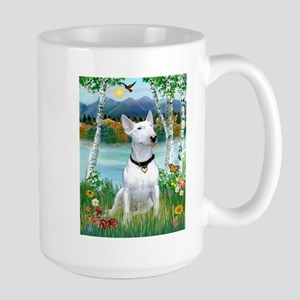 Country Briches & Bull Terrier Large Mug