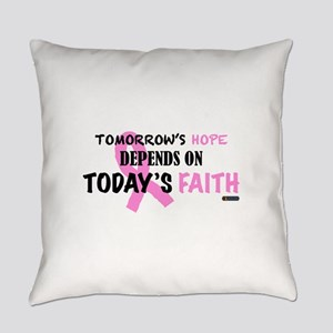Tomorrows Hope Breast Cancer Everyday Pillow